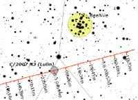 Comet Lulin Trailed